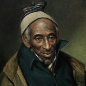 Portrait of Yarrow Mamout (Muhammad Yaro), 1819. Charles Willson Peale, American, 1741-1827. Oil on canvas. 24 x 20 inches (61 x 50.8 cm). Philadelphia Museum of Art